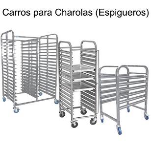 CARRO TRANPORTADOR DE CHAROLAS (ESPIGUEROS)