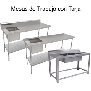 MESAS DE TRABAJO CON TARJA